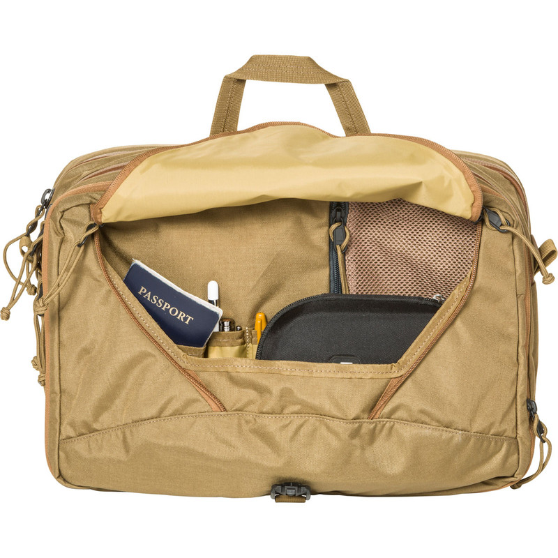 3 Way Briefcase Expandable - Coyote (Front Open)