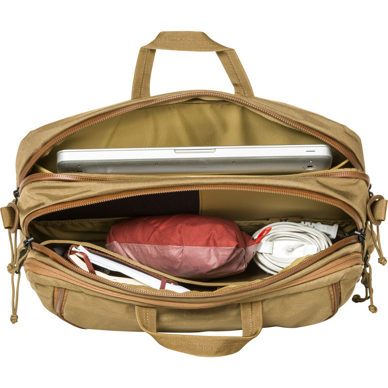 3 Way Briefcase Expandable - Coyote (Top Open)