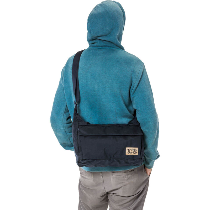 Load Cell Shoulder Bag - Black (On Model)