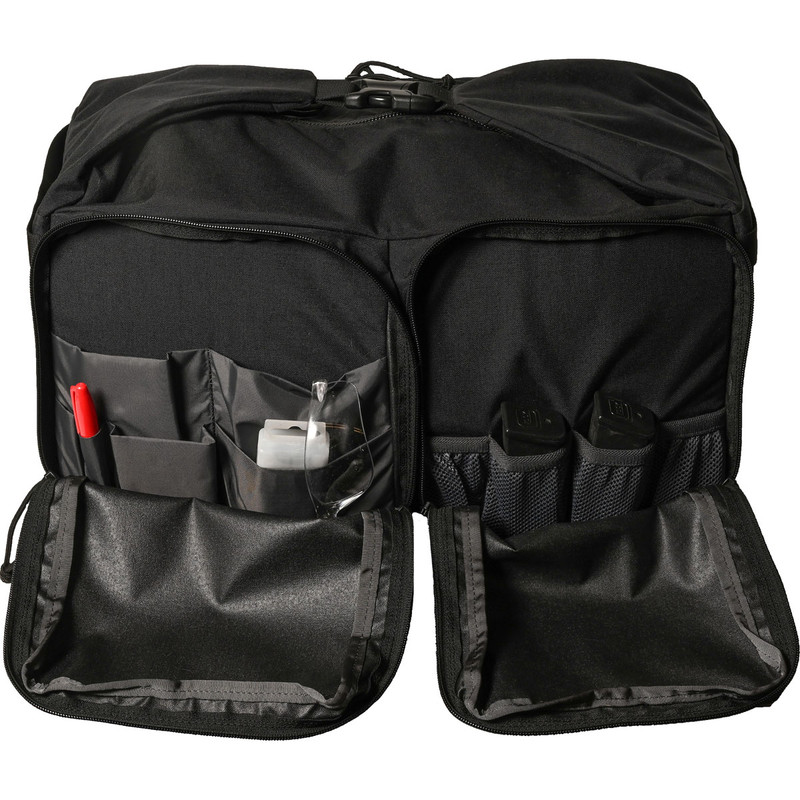 Range Bag - Black (Back, Open)