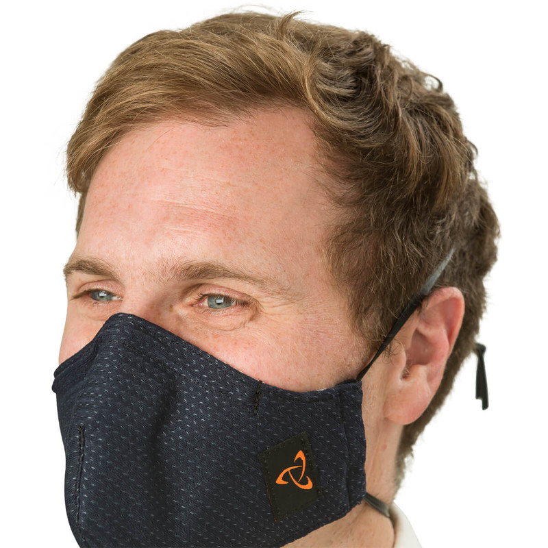 Street Mask - Navy (Small, on Model)